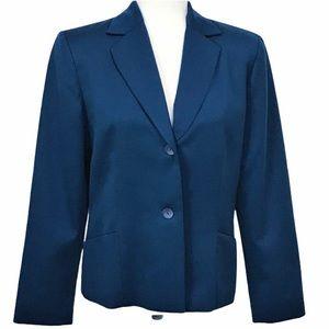Pendleton 100% Virgin Wool Teal 2 Button Blazer 8